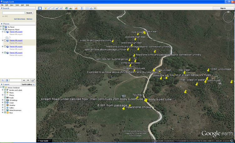 Continuation-list kml (Google Earth)